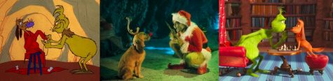 The three adaptations of How the Grinch Stole Christmas