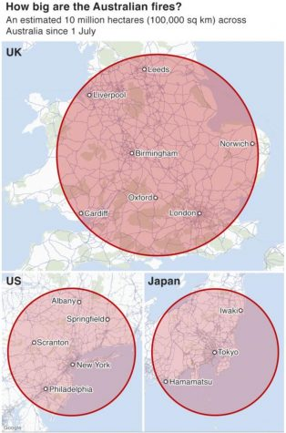 Land Burned Compared To England Size