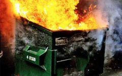 It's surprisingly difficult to find a royalty-free photograph of a dumpster fire.