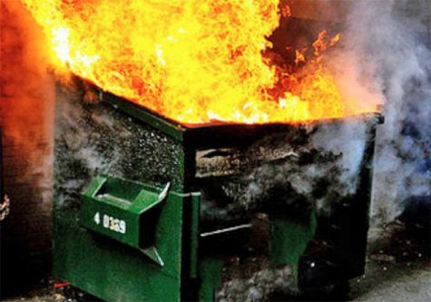 Its surprisingly difficult to find a royalty-free photograph of a dumpster fire.
