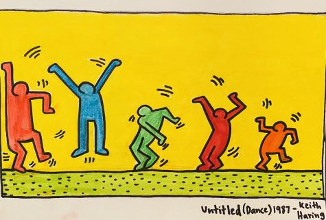 A recreated version of Keith Haring