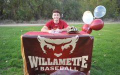 Drew Baskin signed to play DIII baseball for Willamette University.