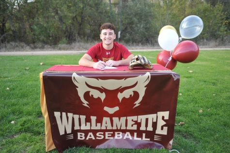 Drew Baskin signed to play DIII baseball for Willamette University.