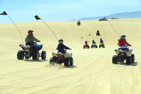 A group of OHV riders enjoy the sun at the Oceano Dunes (image courtesy of the State of California.)